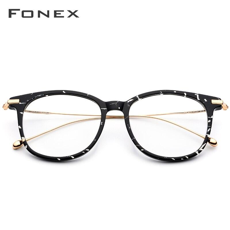 FONEX pur B titane optique lunettes cadre hommes 2019 Vintage carré Prescription lunettes femmes myopie Spectacle lunettes 854