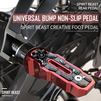 Spirit beast rear pedal motorbike accessories Huanglong 300 BN600 motorcycle universal anti skid widened pedal free shipping