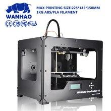 Wanhao 3D принтер, dual-экструдера, RepRap комплект protypling принтер, многоцветная доступны, Бесплатная нити и ЖК-