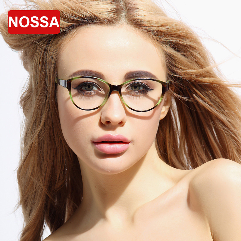 nossa fashion designer clear glasses lens replaceable myopia optical eyeglasses women men prescription spectacle frame goggle