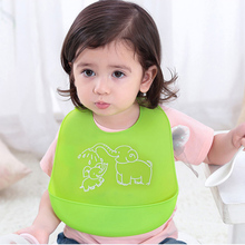 Adjustable Waterproof Silicon Baby Bibs