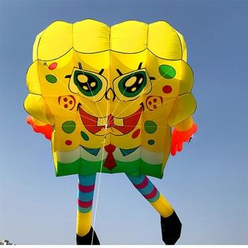 цена на free shipping large 10 sqm pilot soft kite flying nylon ripstop trilobites jellyfish kite windsocks octopus kite factory weifang