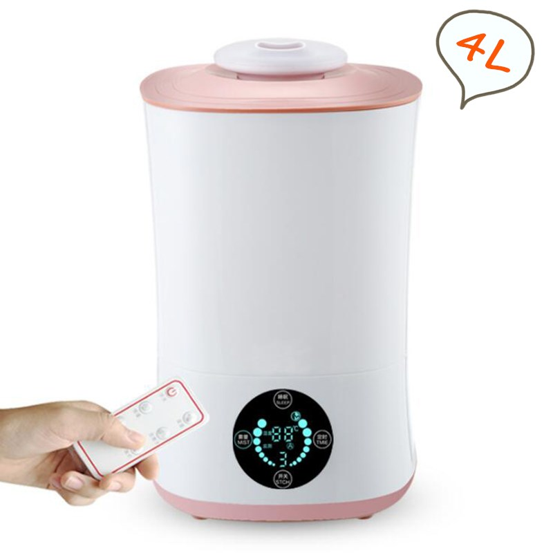 GXZ 4000ml Remote Control Aroma Diffuser LCD Screen Smart Ultrasonic Air Humidifier Mist Maker Fogger 30W Timing Air Purifier