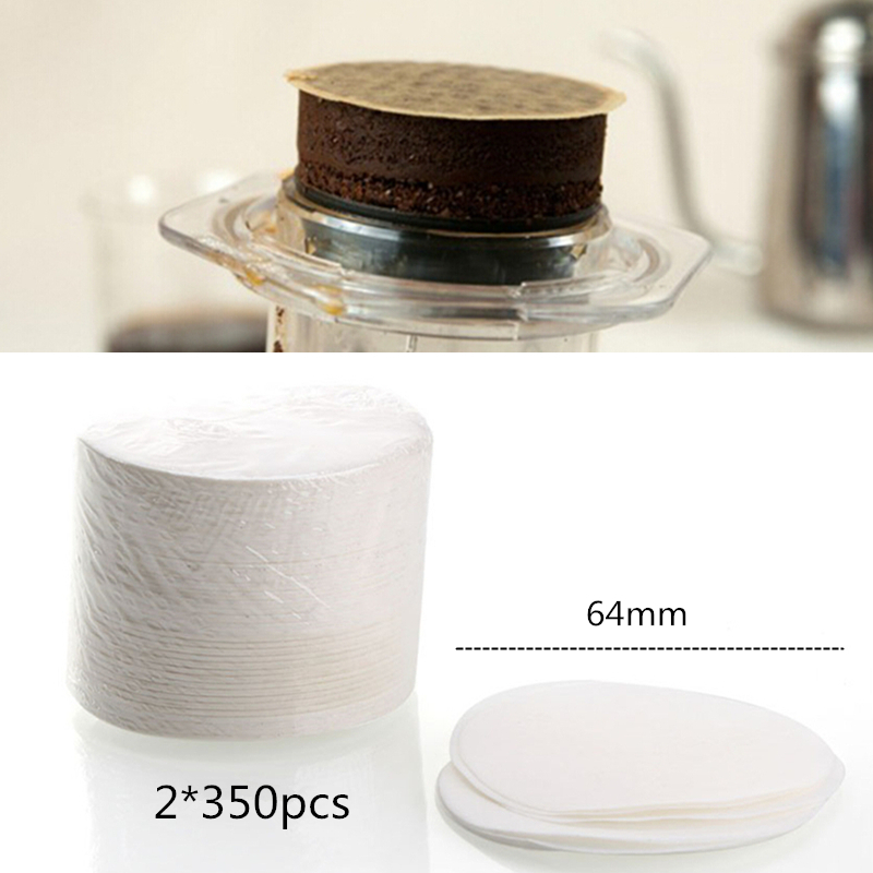 700pcs Round Coffee Filter Paper 64mm For Aeropress Coffee Maker Professional Filters Tools Espresso Coffee Machine Paper Filter