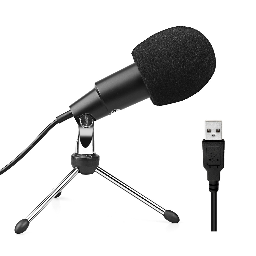 FIFINE USB Condenser Microphone for Computer Macbook  High Sensitivity for Instrument Game Video Recording