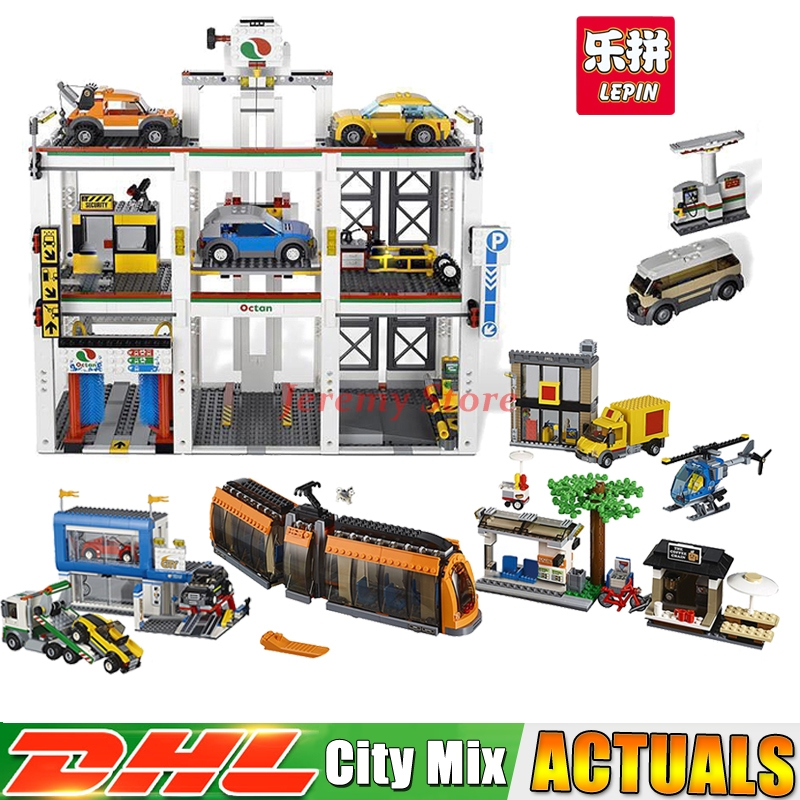 Lepin City Series 02038+02073 Educational Building Blocks Bricks Model Toys For Children Christmas Gifts Clone 60097 4207 a toy a dream lepin 02043 718pcs building blocks bricks new genuine city series airport terminal toys for children gifts