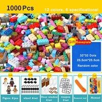 1000 pcs Briques Creative Designer Classique Brique BRICOLAGE Blocs de Construction Jouets Éducatifs En Vrac Pour Les Enfants Cadeau Compatible Legoe
