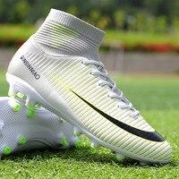 9272cfe65e0ce Soccer Shoes Men Football Boots 2018 New TF Indoor Men S Futsal Cleats High  Ankle Boys. Sapatos de futebol Homens Botas Futebol 2018 Novo ...