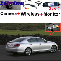 3in1 Special WiFi Camera Wireless Receiver Mirror Parking System For LEXUS GS S190 MK3 2005 2011