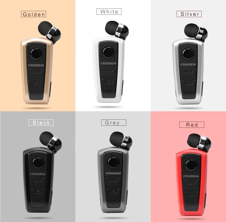 Original Fineblue F910 Wireless Bluetooth V4.0 Headset In-Ear Vibrating Alert Wear Clip Hands Free Earphone For Smartphones