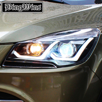 BEINGWINS Car Styling For Ford Kuga Headlights 2013 2016 Escape LED Headlight DRL Bi Xenon Lens