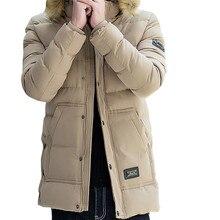 YFFUSHI 2017 Winter Jacket Men Khaki Parka Jackets Men With Fur Hat Winter Coat Fashion Design Casual Style Remove Hat
