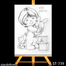 ZhuoAng Lovely children Clear Stamps/Card Making Holiday decorations For  scrapbooking Transparent stamps 6*9cm