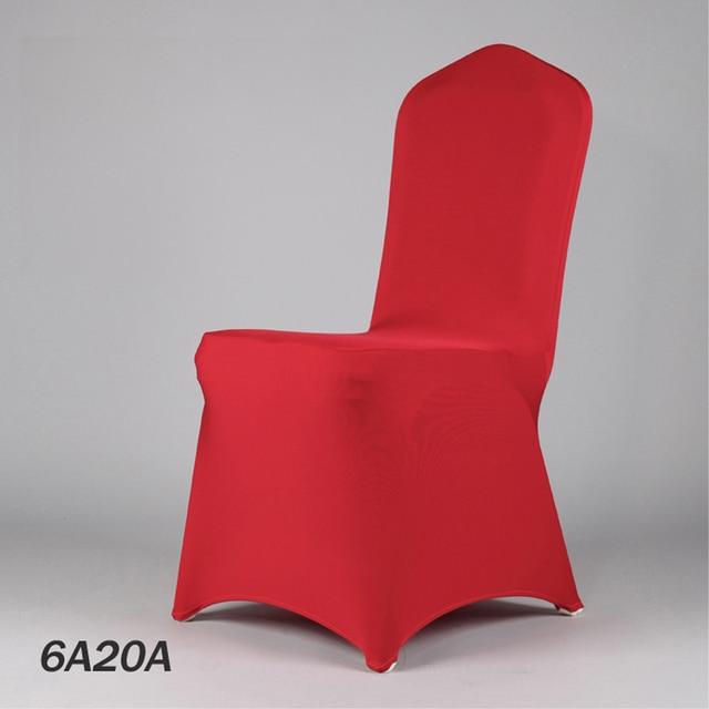 Fabricant 50 Couleur Lycra President De Decoration Mariage Tissu Rouge Banquet Couverture Chaise