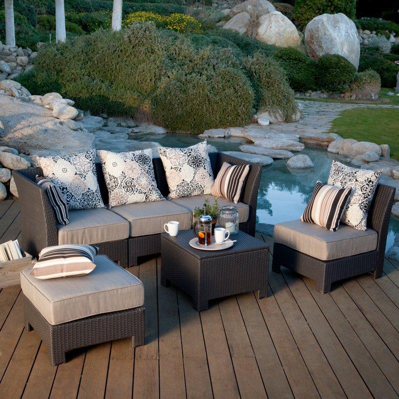 2017 Elegent Wicker Rattan Outdoor Furniture Modular Sofa Sets
