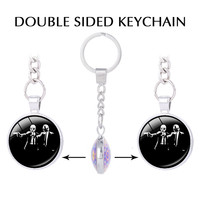 Payday 2 Video Games Double Sided Pendant Keychain For Keys Masks The Heist Photo Keychains Demon