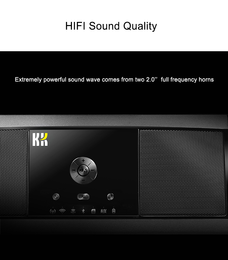 WiFi Wireless Speakers Bluetooth Audio Music Receiver Adapter Stereo Sound System HiFi Stereo Sound subwoofer speaker supportAPP 2017 hot bluetooth multi function audio intelligent family host background music system lcd screen touch light dimmer 2 speakers