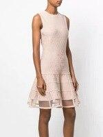 Top Quality Bandage Dress Jacquard Elegant Celebrity Fashion Night Club Party Dress Pink Summer Women Dress