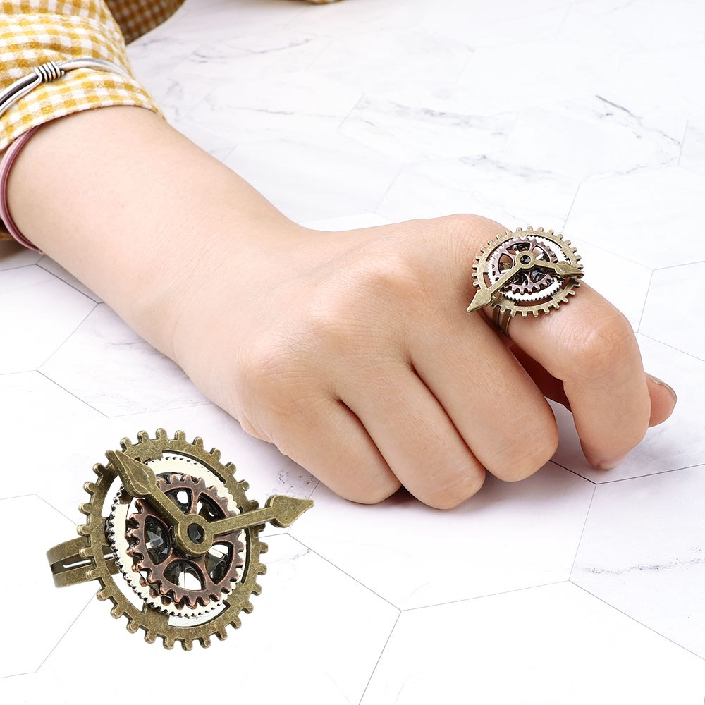 Retro-Gear-Clock-Rings-Steampunk-Multilayer-Fingering-Adjustable-Size-Rings-Women-Men-Party-Jewelry-Gift