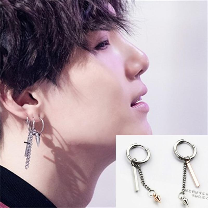 outlet for sale various styles the best attitude KPOP DNA Korean V 1Pc Winner Bangtang Boys Jin earrings Jungkook Suga Jhope  Ear Stud Tassels earrings
