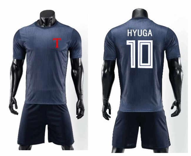 طقم ملابس بدلة مطبوعة لرياضة كرة القدم للكابتن تسوباسا توهو أكاديمي سوسير مُخصص رقم 10 كوجيرو هيوغا