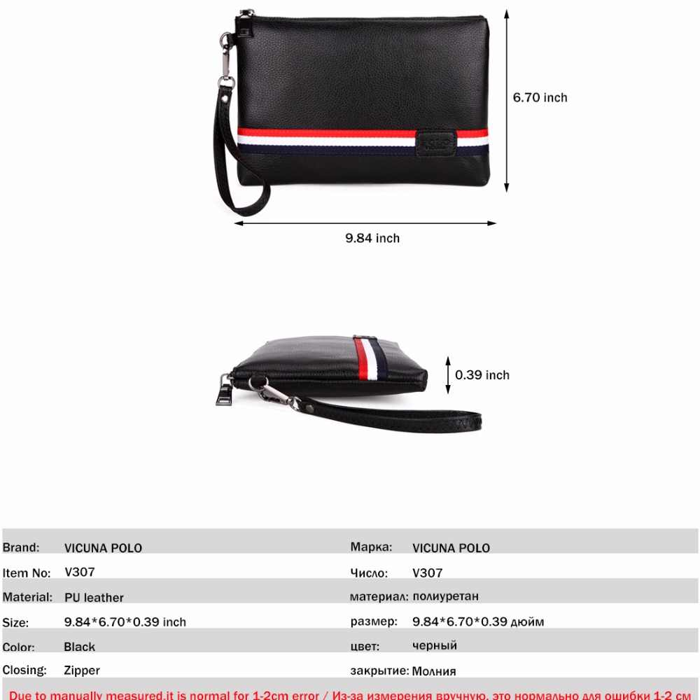 8a4a193d927a9 ... VICUNA POLO Personalized Striped Mens Clutch High Quality PU Leather Men  Clutch Bags Brand Casual Large ...