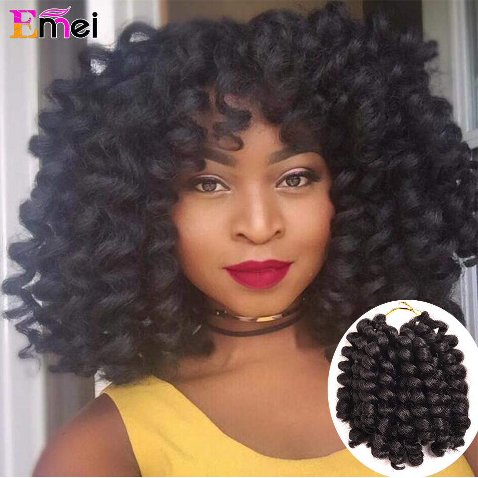 """Jamaica Hair Color: 8"""" Freetress African Collection Jumpy Wand Curl Twist"""