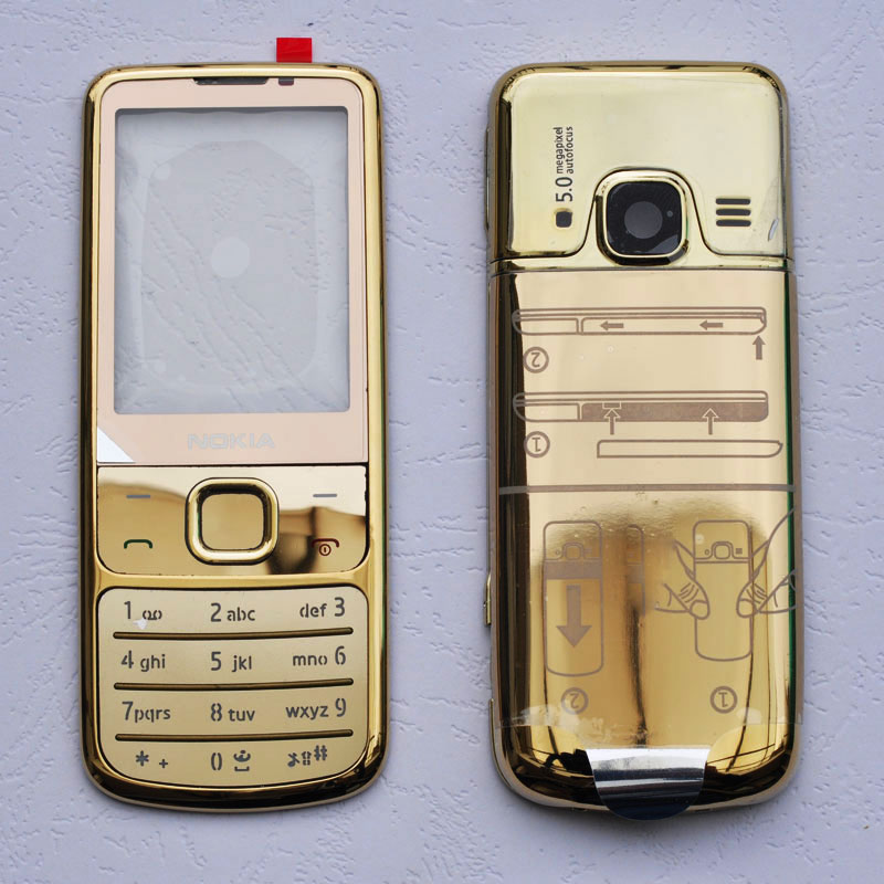 For Nokia 6700 Metal Full Housing Front Frame + Back Cover + English / Russian Keypad