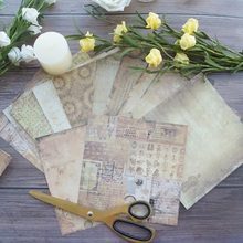 24 sheets DIY 12 style 15.2*15.2cm old paper from book theme craft scrapbooking creative gift use