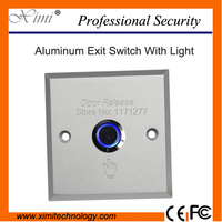 Metal Aluminium Alloy Exit Button High Quality 10 Pcs Lot Access Control Night Luminous Exit Push
