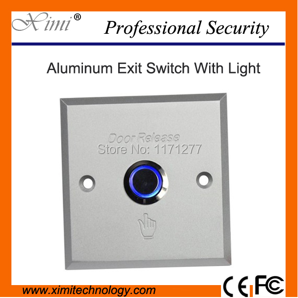 Metal Aluminium Alloy Exit Button High Quality 10 Pcs Lot Access Control Night Luminous Exit Push