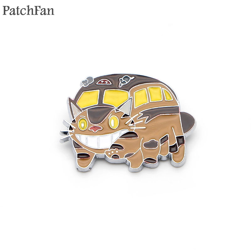 Arts,crafts & Sewing The Best 20pcs/lot Patchfan My Neighbor Totoro Zinc Tie Cartoon Cute Pins Backpack Clothes Brooches For Men Women Hat Badges Medal A0778 Apparel Sewing & Fabric