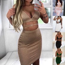 S-L women strap dress casual leisure sexy club summer holida  dresses woman party night