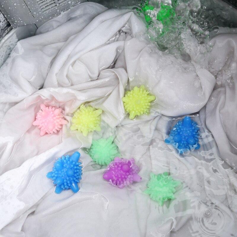Мяч для стирки с защитой от намотки в форме морской звезды, твердый шарик для уборки дома, супер сильные шарики для обеззараживания, шарики для стирки
