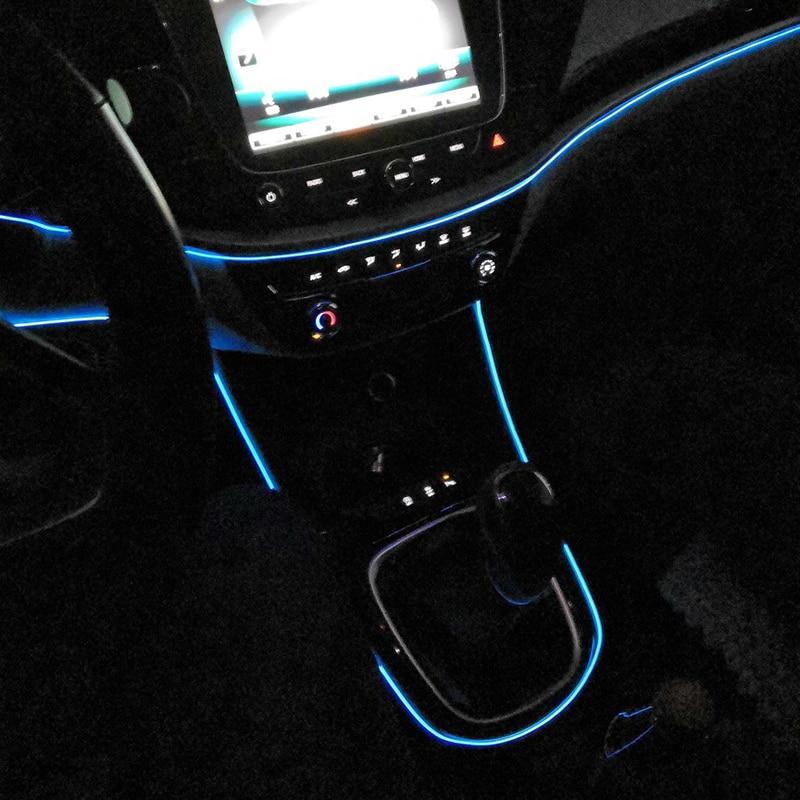 Flexible Neon Car Interior Atmosphere LED Strip Lights For Ssangyong Rexton Musso XLV Tivoli Korando Rodius Actyon Accessories