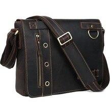 """""""почтальонские"""" сумки на плечо из натуральной кожи бренда TIDING, мужской портфель в повседневном стиле размера 13 дюймов, сумка для ноутбука,, модель 1006"""