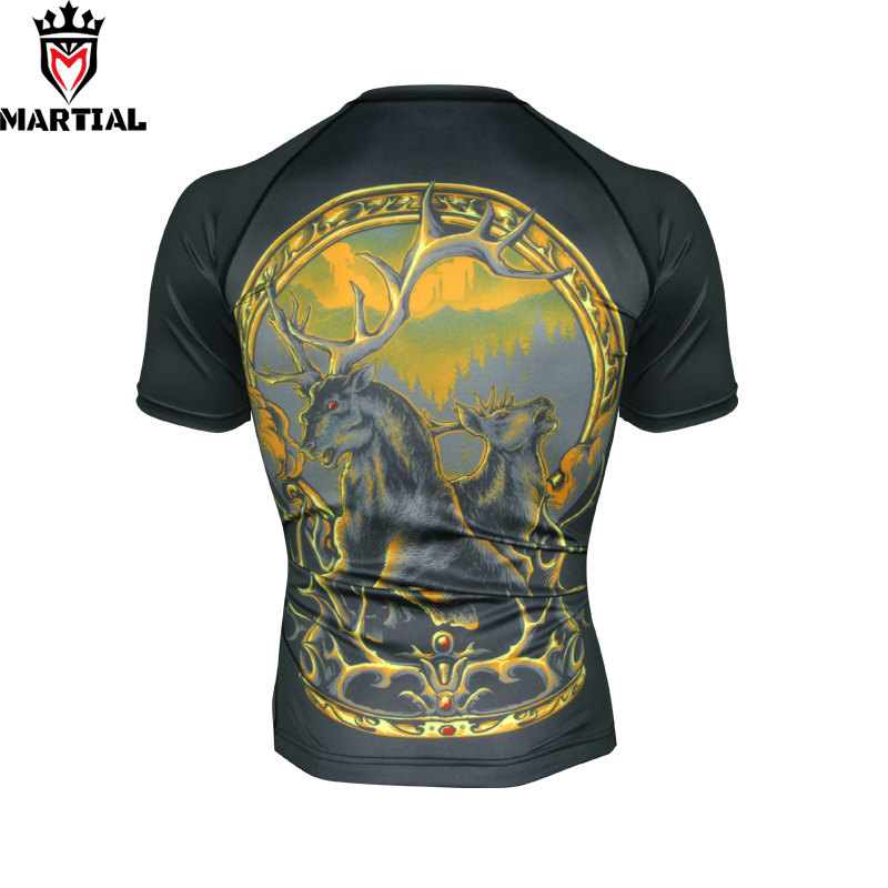 Martial Wholesale Scorpio Printed Dri Fit Shirts For Men Sport Bjj Trainning Shirt Boxing Fitness Clothing Sport Jersey
