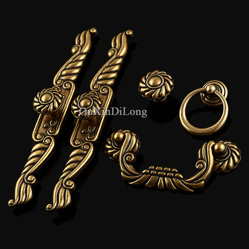Retro Style 10PCS European Antique Kitchen Door Handles Furniture Hardware Cupboard Drawer Wardrobe Cabinet Pull Handles & Knobs furniture drawer handles wardrobe door handle and knobs cabinet kitchen hardware pull gold silver long hole spacing c c 96 224mm