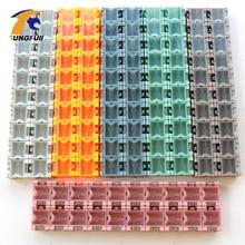 Tungfull 100 шт. SMD SMT компонентные ящики для хранения контейнеров электронный чехол Комплект 1# автоматически всплывает патч-бокс
