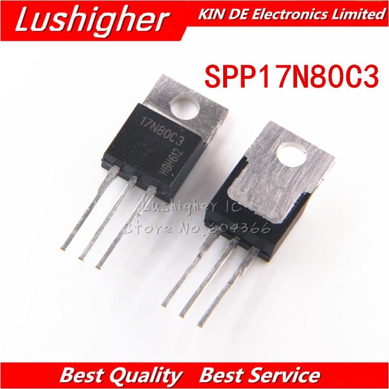 5Pcs SPA17N80C3 17N80C3 17A//800V transistor TO-220 high quality DU