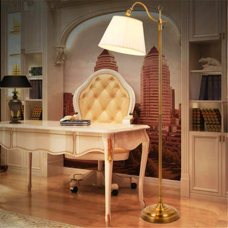 American Country Modern Creative Retro Style Livingroom Floor Light Study Bedroom Remote Control Lamp Free Shipping