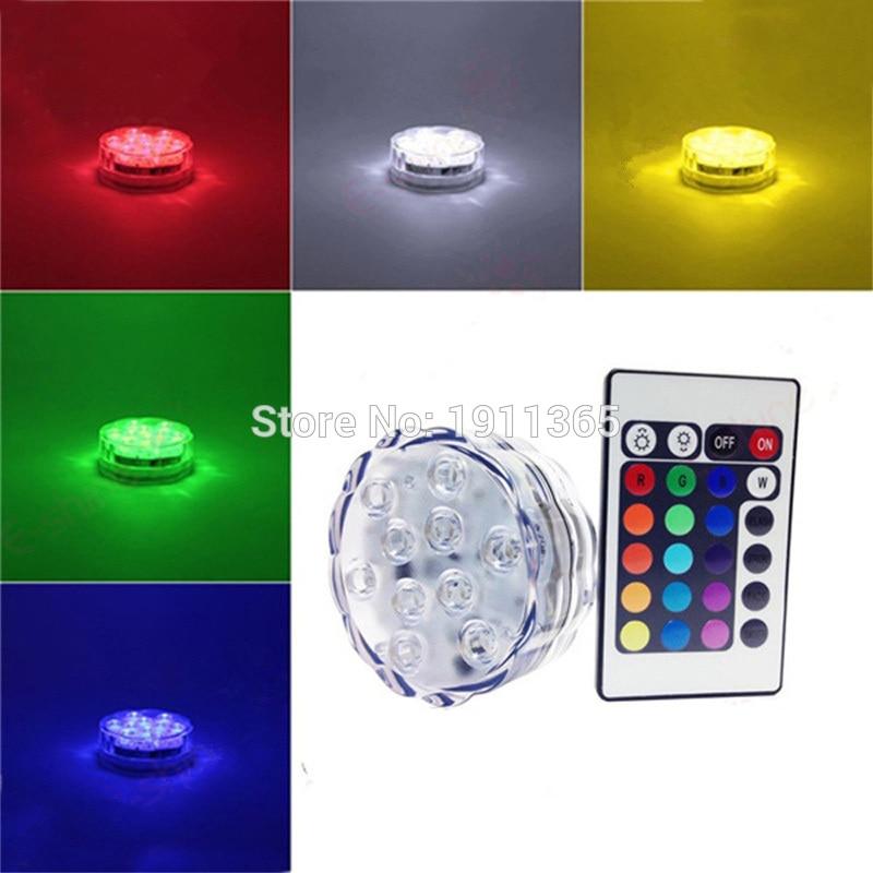 4 pcs Télécommande Submersible LED Floral Lumière De Fête De - Éclairage festif - Photo 4