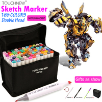 TOUCHNEW Art Marker 30 40 60 80 168 Colors Artist Dual Headed Marker Set For Animation