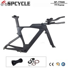 Spcycle 2018 New Carbon Time Trial Triathlon Frame 700c Carbon Road Bike TT Frame Carbon DI2 TT Frameset With Free Brake Clipers