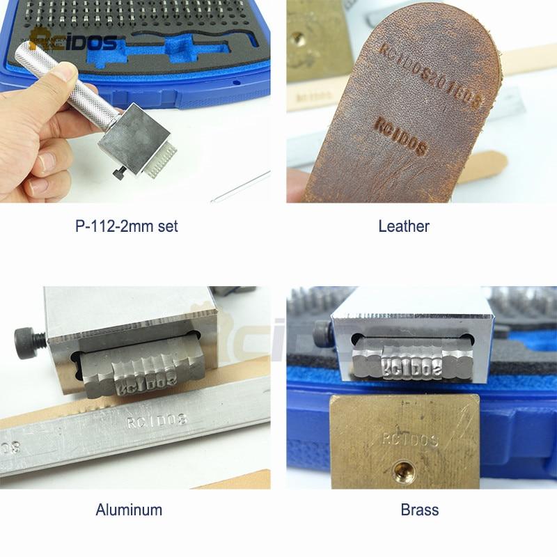 Juego de punzón de sello de acero intercambiable P-112, letras de - Herramientas manuales - foto 5