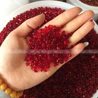 Wholesale 500g/1000g K5 5 8mm Red Gravel Crystal Buddha Aquarium Fish Tank Glass Vase Free shipping CRY F965