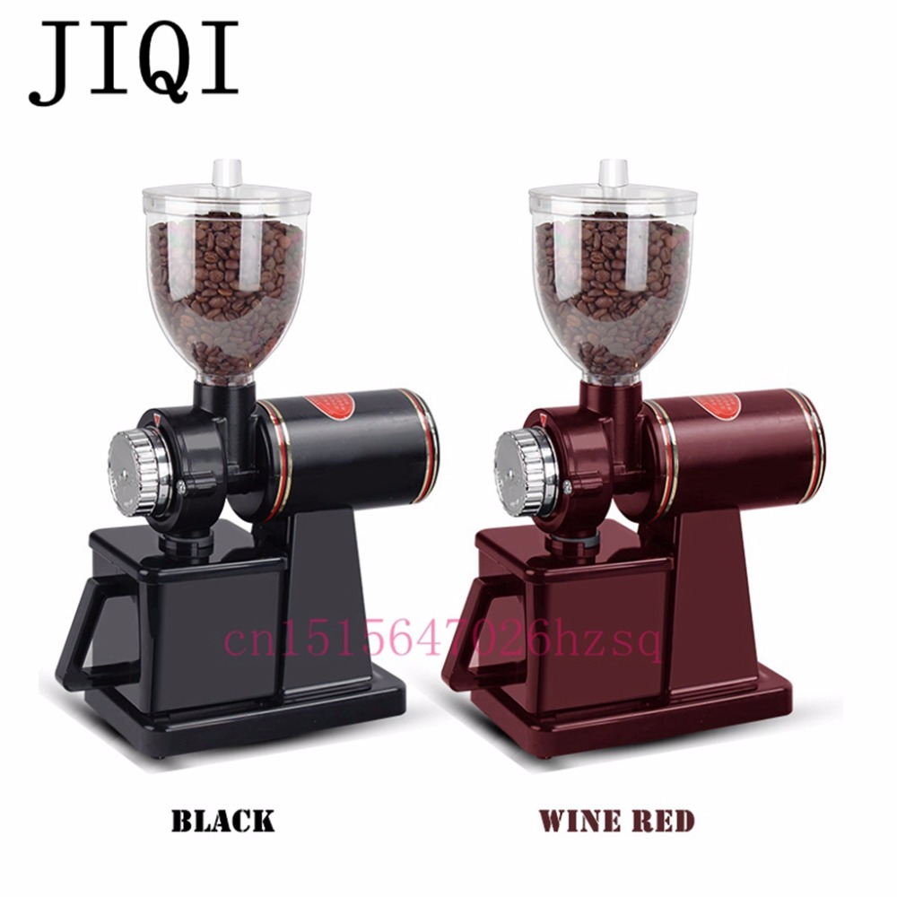 JIQI FREE SHIPPING Electric Coffee Grinder Machine coffee Mill New arrival household coffee grinder Storage Capacity