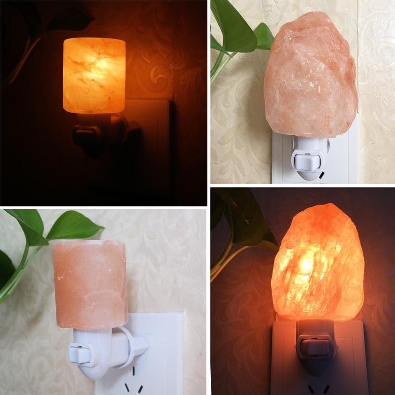LED Night Light Mini Himalayan Salt Night Light Crystal Salt Rock Night Lamp Bedside Bedroom Home Decor Novelty Lighting