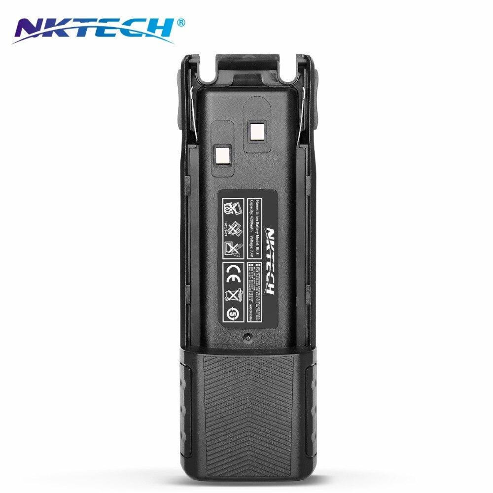 NKTECH Talkie Walkie Batterie Prolongée BL-8 4200 mAh 7.4 V Li-ion Batterie Pour BaoFeng Pofung UV-82 UV-82HP UV82C UV-82L UV-8D UV82X