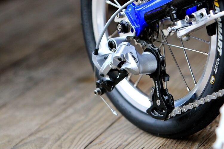 """Fnhon Freedom Aluminum Folding Bike 14"""" 16"""" V Brake 3 Speed 9T 13T 17T Minivelo Mini velo Bike Urban Commuter Bicycle Foldable"""